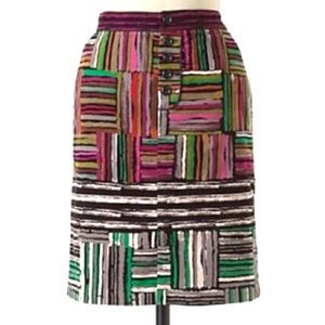 Anthropologie Odille Spectrum Map Skirt Size 4